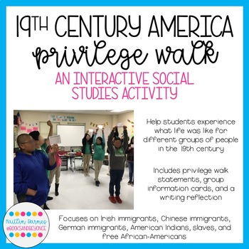 19th Century American History Privilege Walk: Immigrants/Slaves/Native Americans