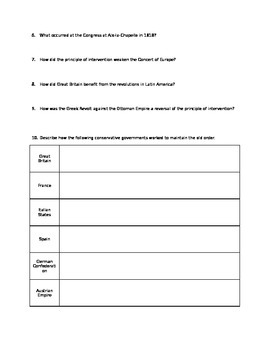 19th Century Ideologies Study Guide