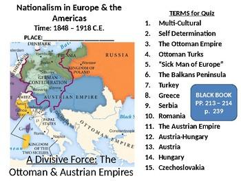 19th Century Nationalism LESSON BUNDLE: The Ottoman & Austrian Empires Collapse