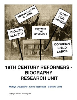 19th Century Reformers - Biography Research Unit