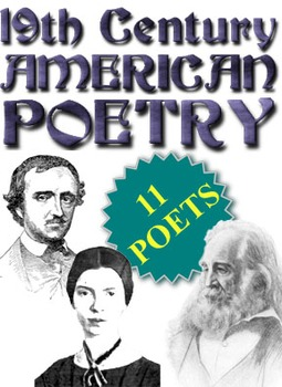 19th c. American Poetry (Full Unit - Power Point, handouts, poem activities)