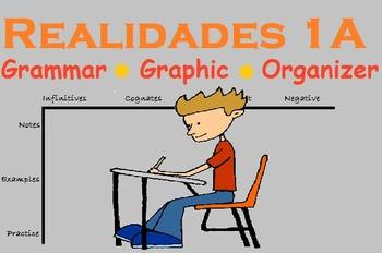 Spanish Grammar Graphic Organizer (Realidades 1A)