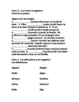 1A Study Guide: Realidades 2