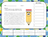 ABC Order and Word Search - 2nd Grade - Journeys Aligned