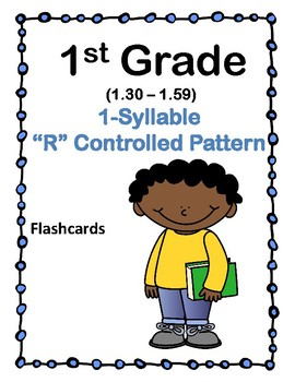 1st 1.30-1.49 1-Syllable R Patterns Cards (Aligned to American Reading Co IRLA)