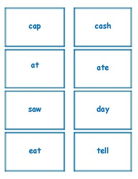 1st Grade 1.30-1.59 1-Syllable Words Cards (Aligned to American Reading Co IRLA)