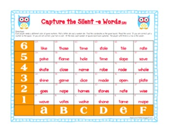 1B Capture the Silent -e Words