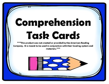 1st Grade Comprehension Task Cards aligned to American Reading Company