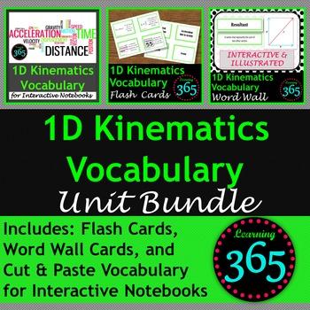 1D Kinematics Vocabulary Unit Bundle