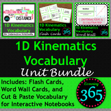 1D Kinematics Vocabulary Unit Bundle