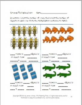 1Digit by 1 Digit Multiplication Packet for Grades 3-4