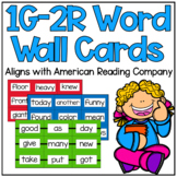 1G-2R Power Words IRLA Aligned Word Wall Cards and Flash Cards