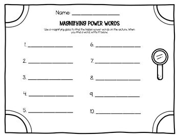 1G Magnifying Power Words (Aligns with American Reading Company)