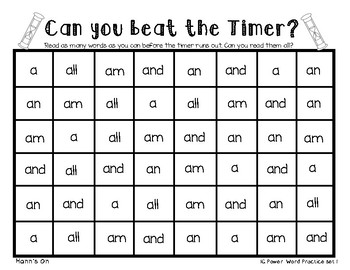 1G Power Word Beat the Timer