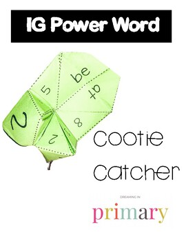 1G Power Word Cootie Catcher