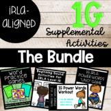 1G Power Words BUNDLE! Sight Word Games Aligned to IRLA Program