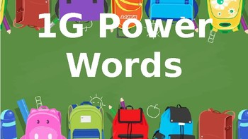 1G Power Words PowerPoint