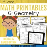 Geometry- 1st Grade Math Printables Worksheets