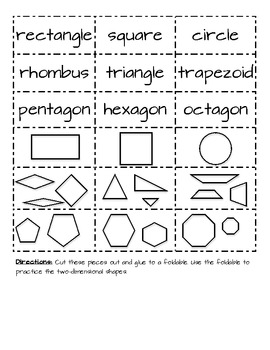 1.G.1 2D Shapes Worksheets, Games and Assessment