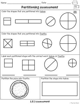 First Grade Geometry Assessments Freebie!