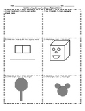 1.G.2 Creating Composite Shapes Worksheets and Assessment