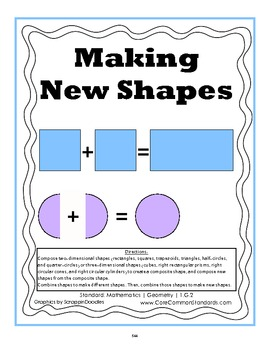 1.G.2 First Grade Common Core Worksheets,... by Have Fun Teaching ...