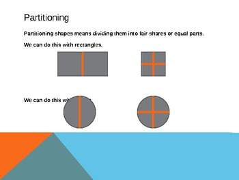 1.G.3 Common Core First Grade Math - Partitioning Shapes