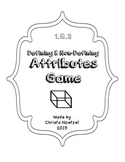 1.G.3 Defining and Non-Defining Attributes Game