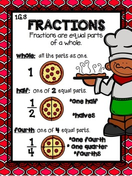 1.G.3 Half and Quarter Fractions
