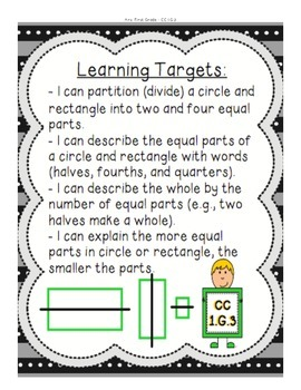 1.G.3 Partitioning Circles and Rectangles