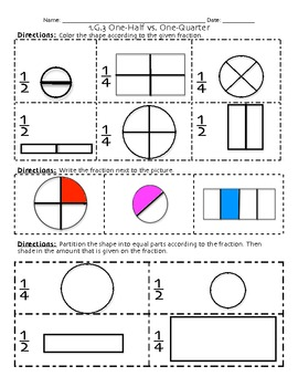 1.G.3 Partitioning Shapes Geometry