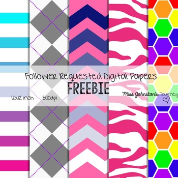 1K TpT Followers Digital Papers Freebie
