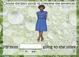 1.L.1 Noun & Verb Agreement Common Core ActivInspire Flipchart