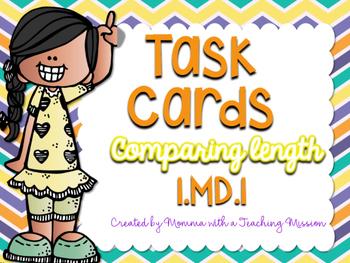 1MD.1 Task Cards Measurement Comparing Length