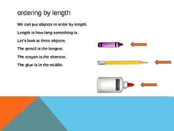 1.MD.1 Common Core First Grade Math - Ordering by Length