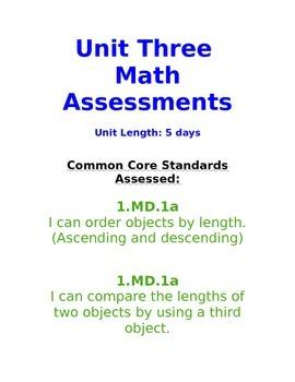1.MD.1 Measurement (length)/ Shortest to Longest/ Comparing