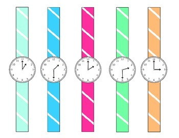 1.MD.3  Telling Time to the Hour and Half-Hour
