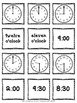 1.MD.3 Time Concentration -1st Grade - CCSS Aligned -Time to Hour & Half Hour