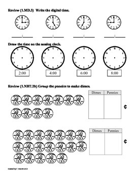 (1.MD.4) Graphs and Data - 1st Grade Common Core Math Worksheets-2nd 9 Weeks