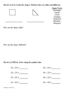 (1.MD.4) Represent Data -1st Grade Common Core Math Worksheets-4th 9 Weeks