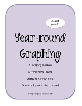 1.MD.4 Seasonally Theme Graphing Questions and Worksheets