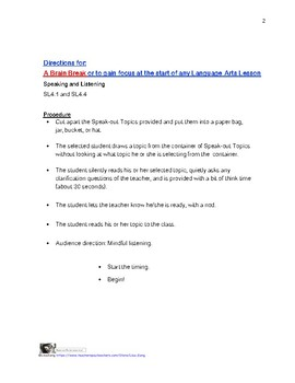 1Minute Speak-Out: Writing and Speaking Activity with Lesson Plans