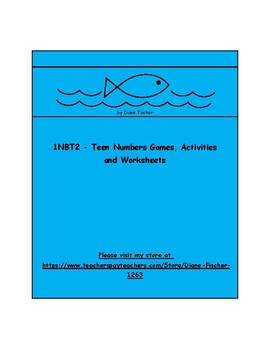 1NB2 - Teen Numbers Place Value - Games, Activities and Worksheets