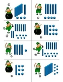 1.NBT Place Value practice for 1st grade Common Core leprechaun theme