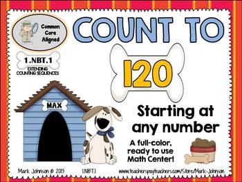 1.NBT.1 Counting to 120  {A Full-color Math Center}