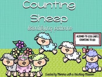 1.NBT.1 Easter Task Cards Counting to 120 with Counting Sheep