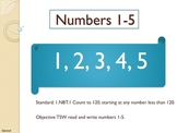 1.NBT.1 Introduction to Number Sense (Numbers 1-5)