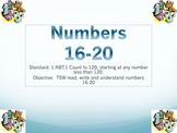 1.NBT.1 Introduction to Number Sense (Numbers 16-20)