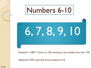 1.NBT.1 Introduction to Number Sense (Numbers 6-10)