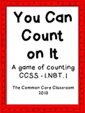 1.NBT.1 Math Center Game: You Can Count On It: Counting from any given # CCSS